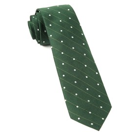 Ringside Dots Grass Green Ties