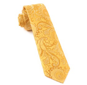Gold Custom Paisley ties
