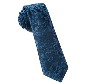 Navy Custom Paisley ties