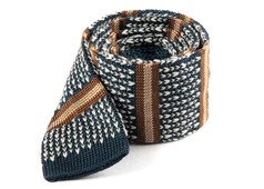 Ties - Journey Stripe - Deep Slate Blue