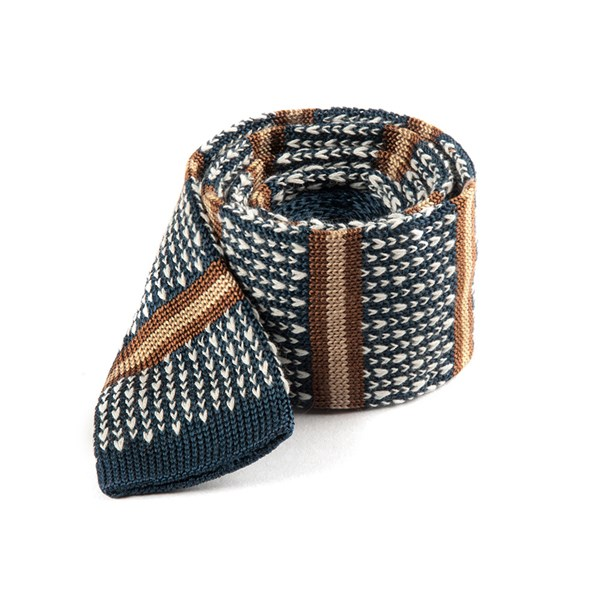 Deep Slate Blue Journey Stripe Tie