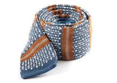 Ties - Journey Stripe - Light Cornflower