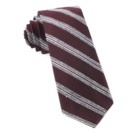 Burgundy Edison Stripe ties