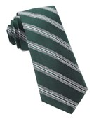 Ties - Edison Stripe - Hunter Green