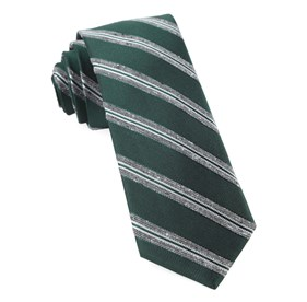 Hunter Green Edison Stripe ties