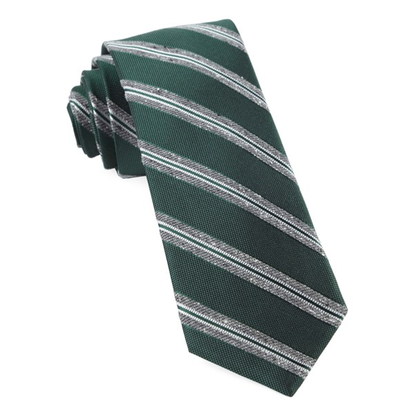 Hunter Green Edison Stripe Tie
