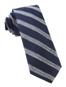Ties - Edison Stripe - Navy