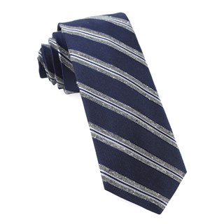 edison stripe navy ties