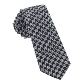 Black Houndstooth Thrill ties