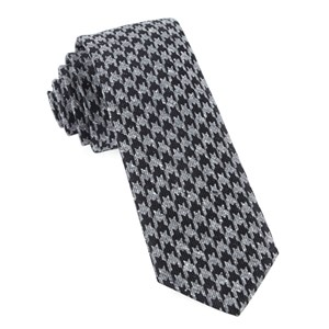 houndstooth thrill black ties
