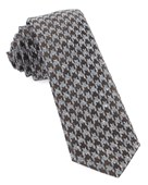 Ties - Houndstooth Thrill - Chocolate Brown