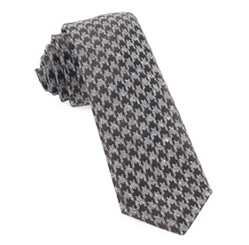 Houndstooth Thrill Chocolate Brown Ties