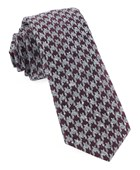 Ties - Houndstooth Thrill - Burgundy