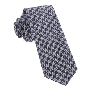 houndstooth thrill eggplant ties