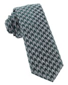Ties - Houndstooth Thrill - Hunter Green