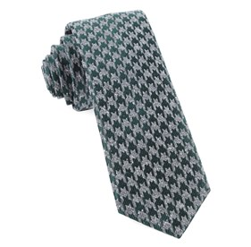 Houndstooth Thrill Hunter Green Ties