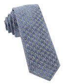 Ties - Houndstooth Thrill - Slate Blue