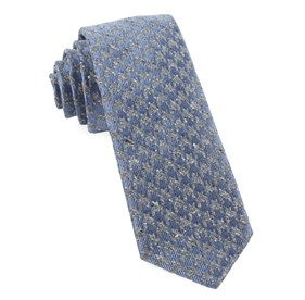 Slate Blue Houndstooth Thrill ties