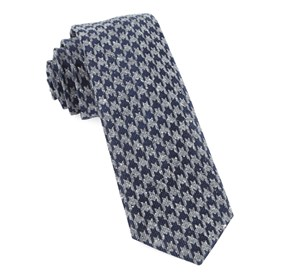 Houndstooth Thrill Navy Ties