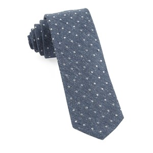 knotted dots serene blue ties