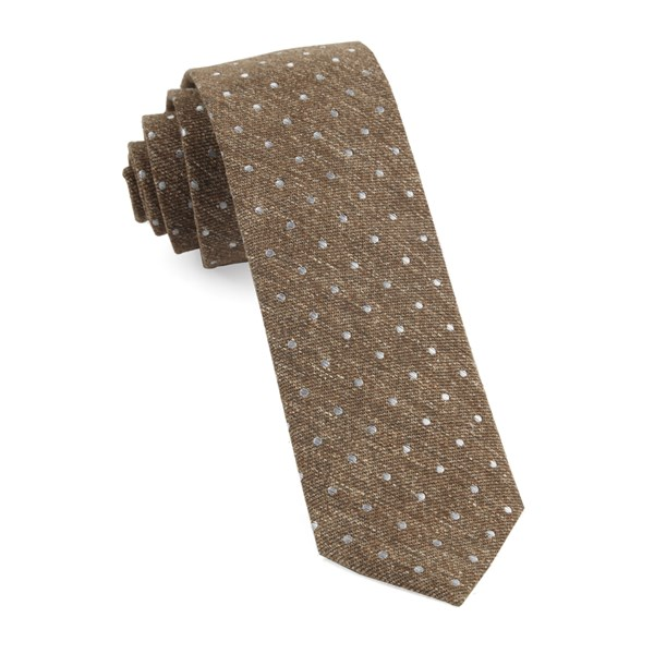 Brown Knotted Dots Tie