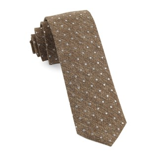 knotted dots brown ties