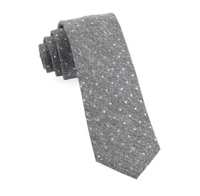 Grey Knotted Dots ties