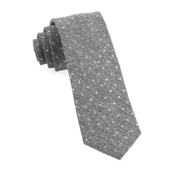 Grey Knotted Dots Tie