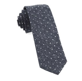 Navy Knotted Dots ties