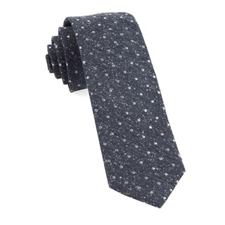 knotted dots navy ties