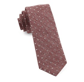 Raspberry Knotted Dots ties