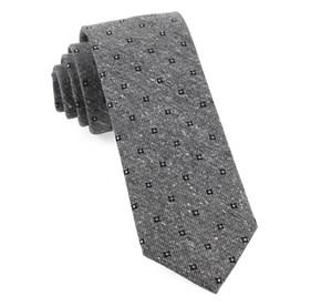 Grey Medallion Ridges ties