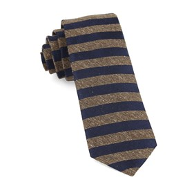 Brown Meter Stripe ties