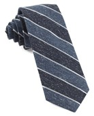 Ties - Splattered Repp Stripe - Serene Blue