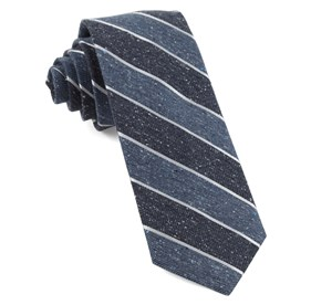 Serene Blue Splattered Repp Stripe ties