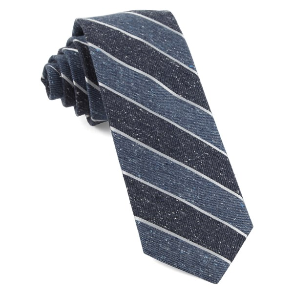 Serene Blue Splattered Repp Stripe Tie