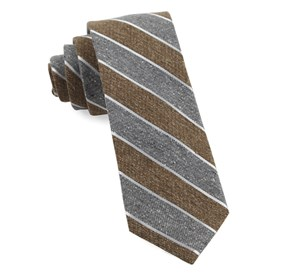 Brown Splattered Repp Stripe ties