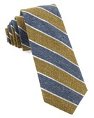 Ties - Splattered Repp Stripe - Mustard