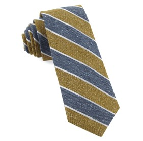 Mustard Splattered Repp Stripe ties