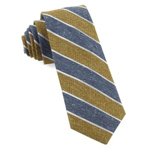 splattered repp stripe mustard ties