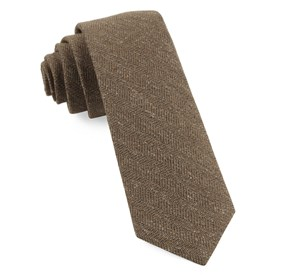 Brown Threaded Zig-zag ties