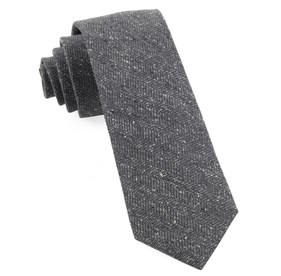 Grey Threaded Zig-zag ties