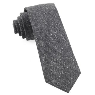 threaded zig-zag grey ties