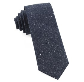 Navy Threaded Zig-zag ties