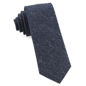 threaded zig-zag navy ties