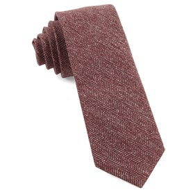 Light Raspberry Threaded Zig-zag ties