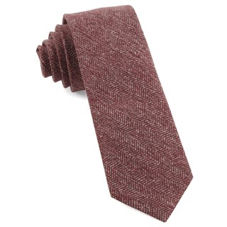 threaded zig-zag light raspberry ties