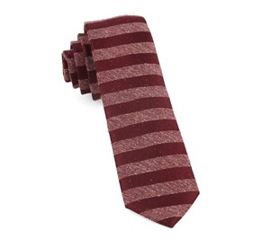 Meter Stripe Raspberry Ties