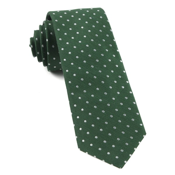 Clover Green Dotted Dots Tie