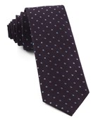 Ties - Dotted Dots - Eggplant